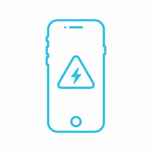 battery, charge, low, mobile, phone icon