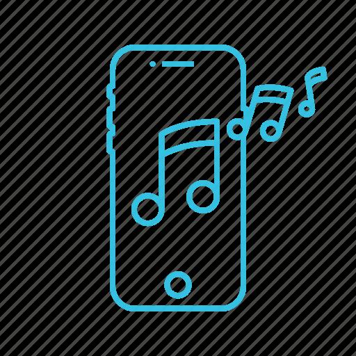 mobile, music, phone, ringtone, sound icon