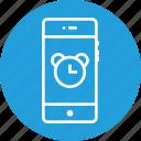 alarm, clock, mobile, notification, reminder, time, ui icon