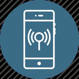 antena, interface, mobile, signal, waves, wifi, wireless icon