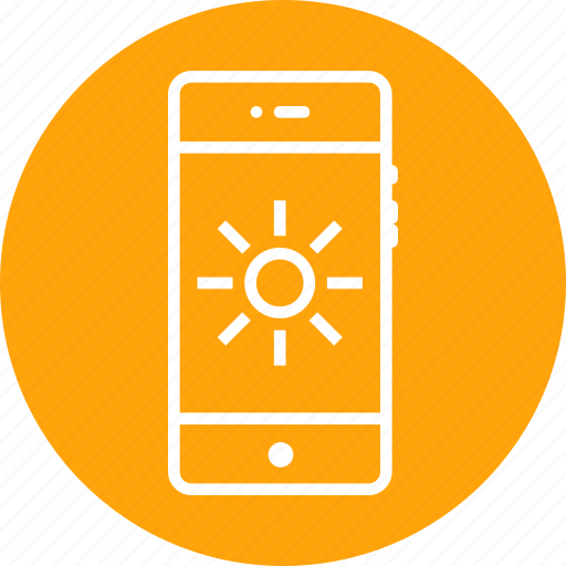 bright, brightness, contrast, flash, interface, mobile icon