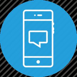 bubble, chat, chatbubble, comment, message, speech, text icon