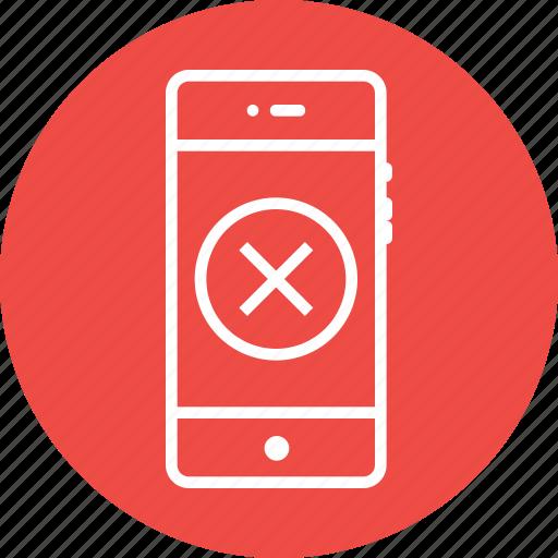 clean, cross, delete, junk, mobile, remove, round icon