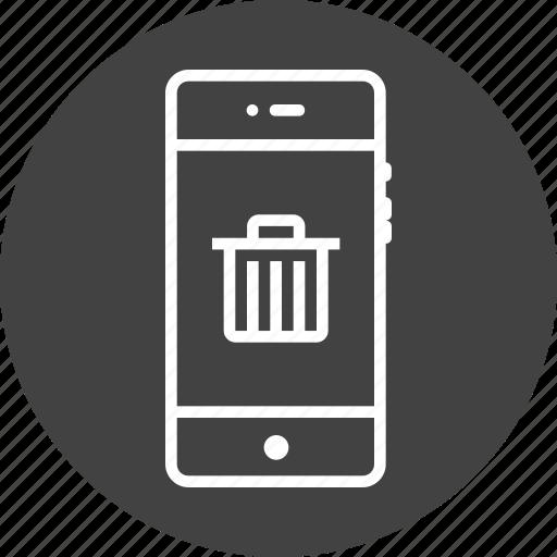 delete, dustbin, garbage, mobile, recyclebin, remove, trash icon