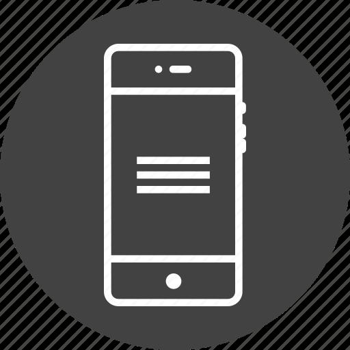 alignment, centre, interface, line, margin, mobile icon