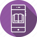 book, exam, guide, information, mobile, novels, study icon