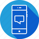 bubble, chat, comment, message, mobile, speech, text icon