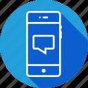 bubble, chat, comment, message, mobile, speech, text icon