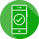check, mobile, pure, round, tick, verify, write icon