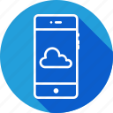 cloud, interface, mobile, online, storage, stroke icon
