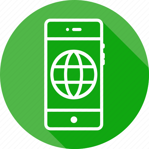 circle, connect, earth, mobile, web, wide, world icon