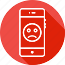circle, emoji, emotion, face, mobile, moodless, sad icon