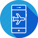 aeroplane, flight, interface, mobile, mode, plane, signal icon