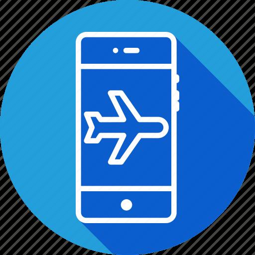 aeroplane, flight, interface, mobile, mode, plane, signal icon