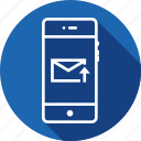 edit, email, mail, message, mobile, upload, write icon