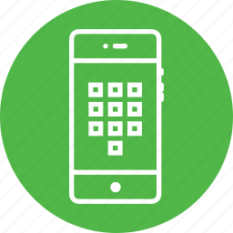 arrange, keypad, mobile, numbers, numpad, square, tile icon