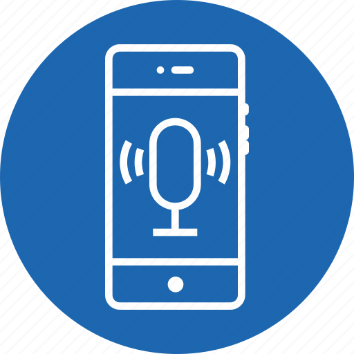 input, mobile, recognization, recorder, recording, speech, voice icon