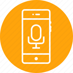 audio, mobile, recognization, record, recording, speech, voice icon