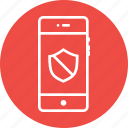 mobile, privacy, private, protected, secure, security, shield icon