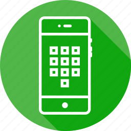 arrange, keypad, mobile, numbers, numpad, square, tile icon