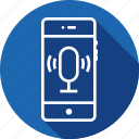 interface, mic, mobile, recognization, recording, speech, ui icon