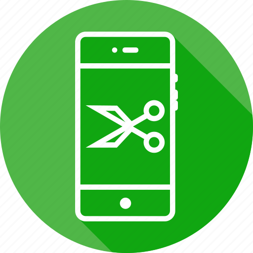 anchor, interface, mobile, ponits, scissors, tool icon