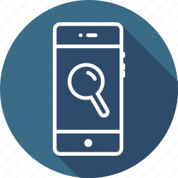 find, interface, magnify, mobile, search, ui, zoom icon
