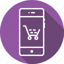 bag, cart, favorite, mobile, shopcart, shopping, tray icon