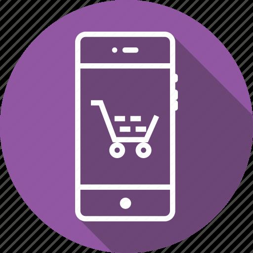 bag, cart, favorite, mobile, shopcart, shopping, tray icon