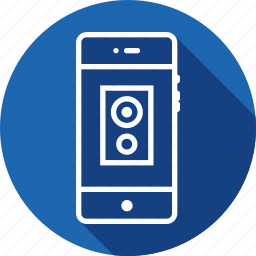 device, electronic, mobile, music, peripheral, speakers, woofer icon