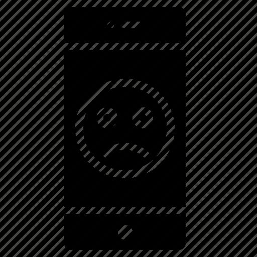 circle, emoji, emotion, face, moodless, round, sad icon