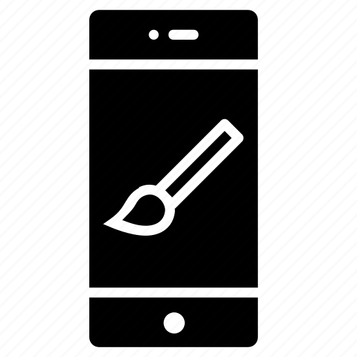 brush, interface, paint, tool, ui icon