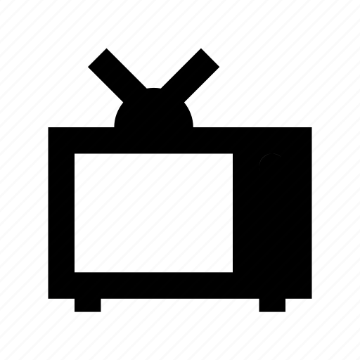 antenna television, lcd, tv, tv screen, vintage tv icon