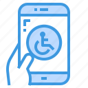 smartphone, app, disabled, mobile