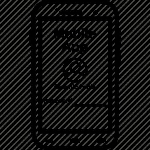 app, login, mobile, password, profile icon