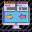 code, computer, development, refactoring icon