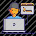 command line, computer, programing, user icon