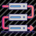 application, dependencies, programing, software icon
