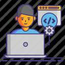code, development, edit, programming icon