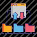 cloud, ftp, network, protocol icon