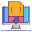 computer, javascript, js, technology icon