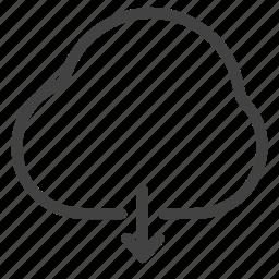 clouddownload, data, download, storage, weather icon