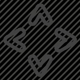 arrow, arrows, direction, move, navigation icon