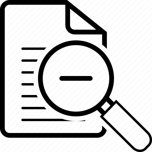 out, tool, zoom icon