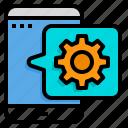 setting, configuration, gear, mobile, application