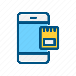 card, mobile, phone, sd card, sim, sim card icon, smart icon