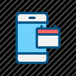 app, application, calendar, date, mobile, smart phone, time icon