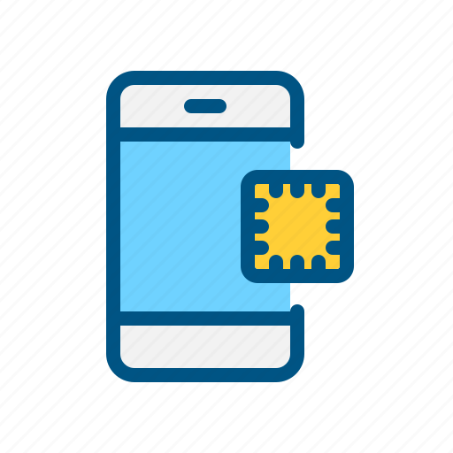 chip, circuit, mobile, phone, processor, smart icon