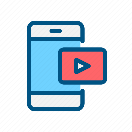 app, application, mobile, play, player, video, video icon icon