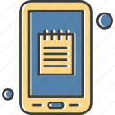 application, mobile, notepad, planner, timetable icon